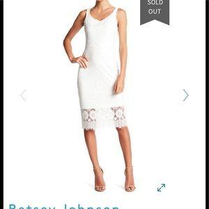 Betsy Johnson lace sleeveless midi dress size 6